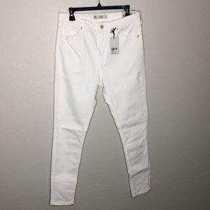 Topshop Moto Jamie Denim High Waist Ankle Jeans